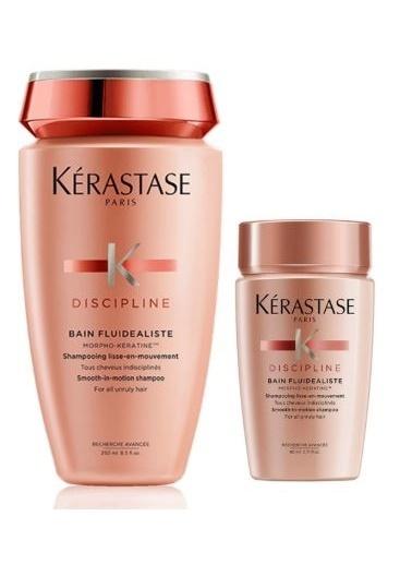 Kerastase Kerastase Discipline Bain Fluidealiste Yatıştırıcı Şampuan 250ml + Seyahat Boyu Discipline Şampuan 80Ml Renksiz